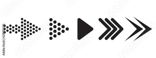 Tela Set of arrows. Vector illustration
