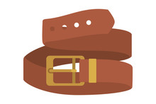 Masculine Elegant Belt Icon Vector Illustration Design