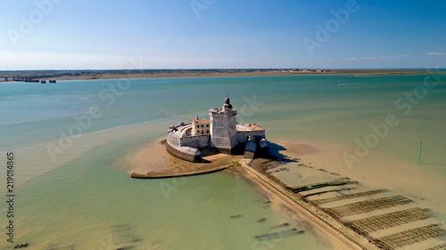 Fotografie, Obraz  Photographie aérienne du Fort Louvois en Charente Maritime