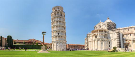 Panorama Pise s nagnutim tornjem