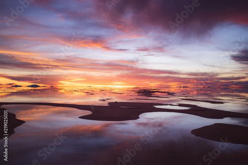 Zdjęcie XXL Salar zachód słońca