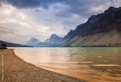 Fotografie, Obraz  A moody morning at Bow Lake in Banff National Park, Alberta, Canada