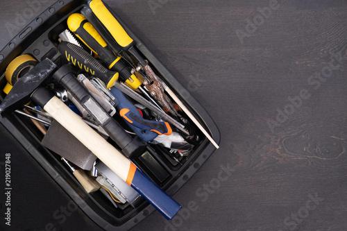 Foto op Aluminium working tools in a box