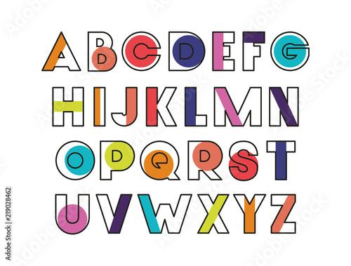 Fotografie, Tablou alphabet type font icons vector illustration design