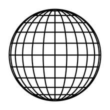 Earth Planet Globe Grid Of Bla...