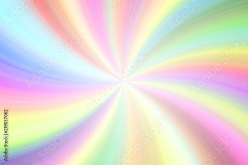 Fotografie, Obraz  Light rainbow colorful transparent beams twirl festive empty background