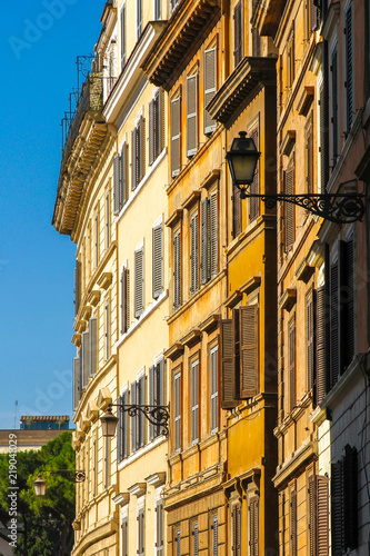 View on the historic architecture in Rome, Italy on a sunny day. Wallpaper Mural