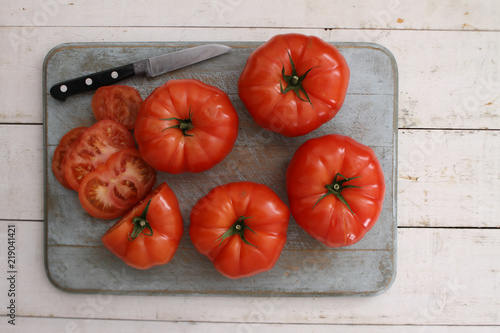 Fotomural  ripe beef tomato