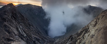 Inside The Vulcano Mount Bromo In Java, Indonesia