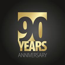 90 Years Anniversary Gold Blac...