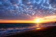 Beautiful sunset above Black sea