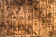 Old Egypt Hieroglyphs From Kar...