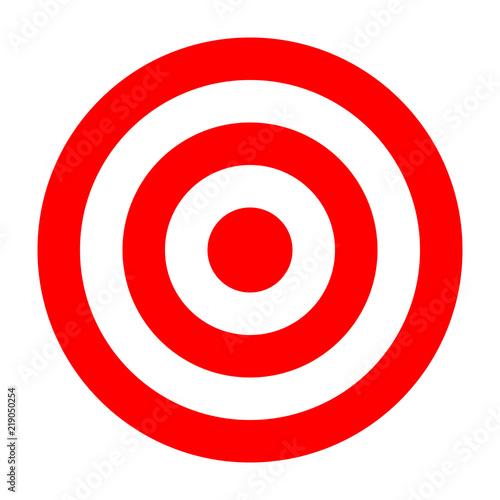 simple circle target template bullseye symbol buy this stock