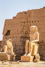 Pharaoh Rameses II Statue In Luxor Temple, Egypt