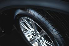 Car Wheel On A Car Close-up. W...