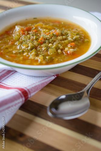 Fotografie, Obraz  Close u view of delicious soup