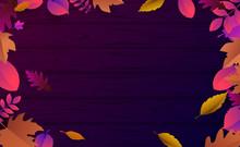 Purple Wooden Textured Autumn ...
