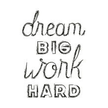 Work Hard For Dreams Message H...