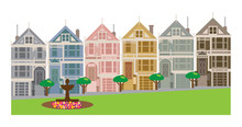 Painted Ladies Row Houses In S...