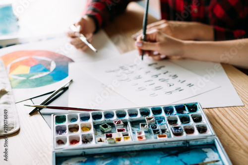 Fotografía  art school lettering classes
