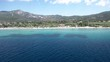 Aerial drone of greek beach
