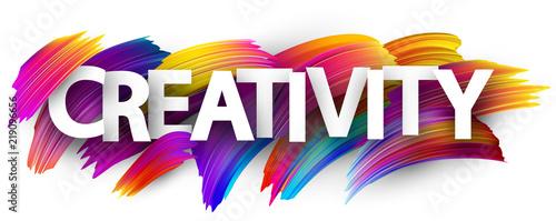 Fototapeta Creativity sign with colorful brush strokes. obraz na płótnie