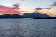 canvas print picture - Sonnenuntergang in den Fjorden Norwegens