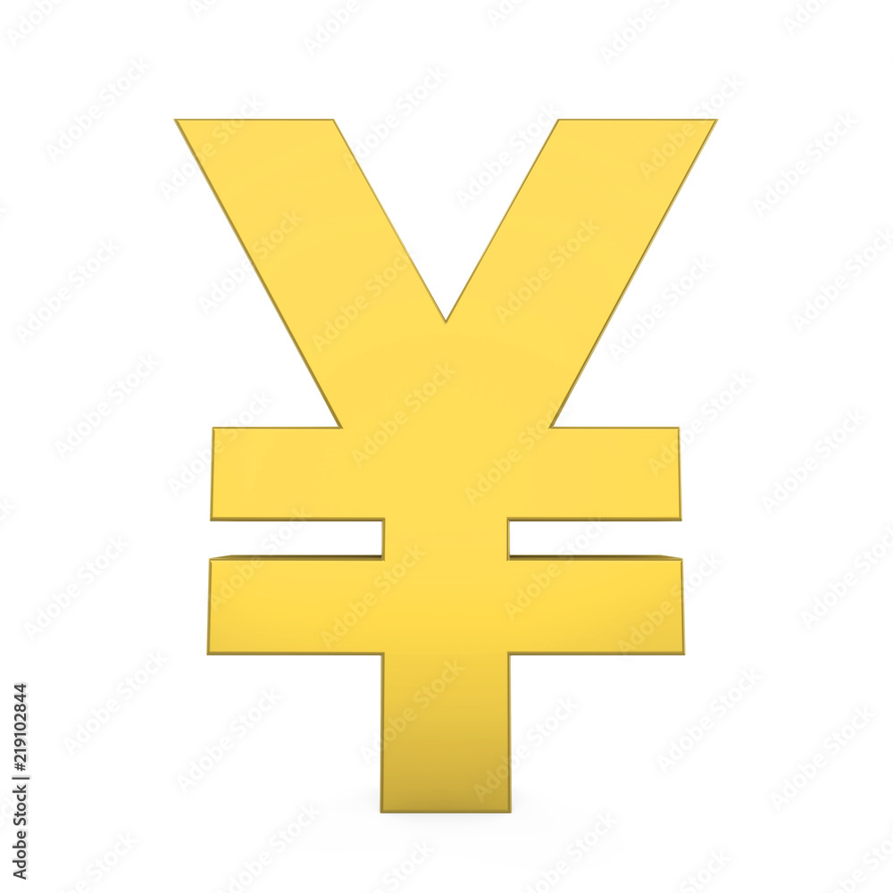 Photo Art Print Yen Yuan Currency Sign Isolated Europosters
