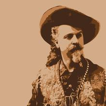 Portrait Du Célèbre Buffalo Bill, Personnage Légendaire Et Historique, De La Conquête De L'ouest Américain