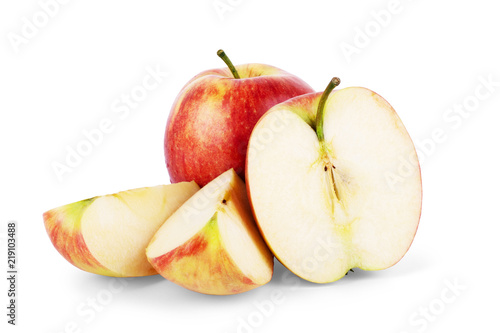 Canvastavla Fresh red apple isolated on white. With clipping path