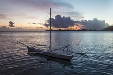 Outrigger Canoe In Beautiful S...