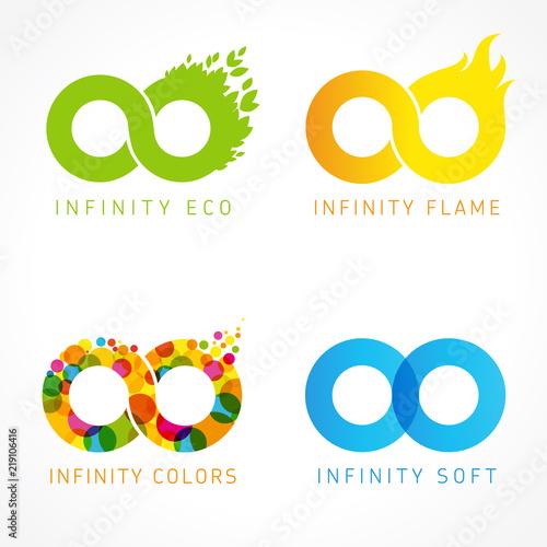 Carta da parati Infinity eco, flame, colors & soft logo ideas