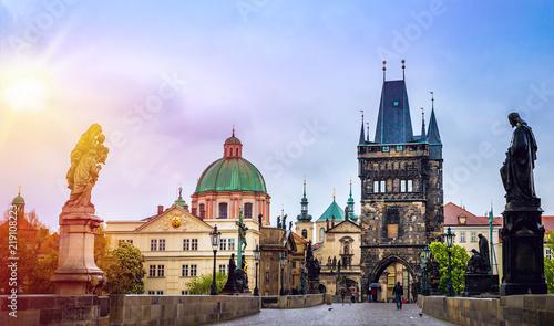 Obraz na plátně  Prague is the capital of the Czech Republic, the European state