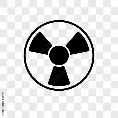 Toxic vector icon on transparent background, Toxic icon Canvas Print