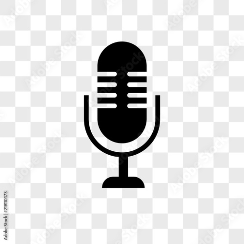 Fotografija Microphone vector icon on transparent background, Microphone icon