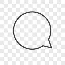 Comment Vector Icon On Transparent Background, Comment Icon