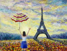 Women Travel, Paris European City Famous Landmark