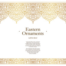 Vector Vintage Seamless Border In Eastern Style.