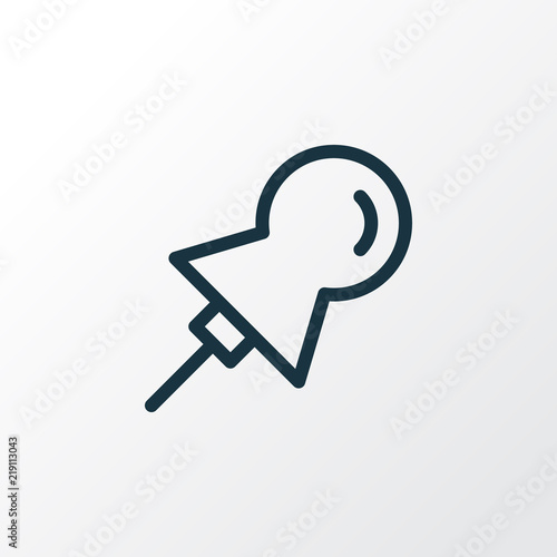 Fotografie, Obraz  Pin icon line symbol