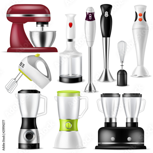 Blender vector juicer machine or mixer equipment blending juice and electric sha Tablou Canvas