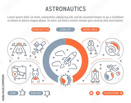 Photo Linear Banner of Astronautics.