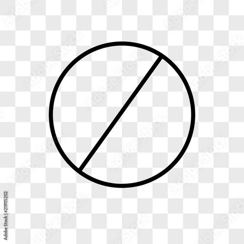 Fototapeta Blocked vector icon on transparent background, Blocked icon obraz na płótnie