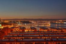 Paisaje De La Ría De Ferrol Y El Puente De As Pías Desde Fene