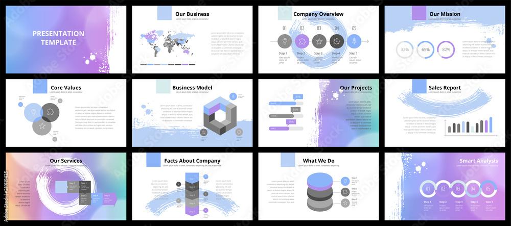 Obraz Business presentation templates fototapeta, plakat