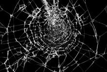 Broken Glass Texture Isolated ...