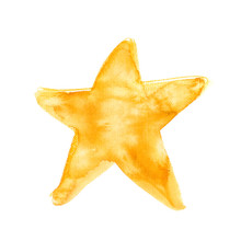 Simple Abstract Golden Star Pa...