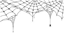 Scary Spider Web Background. C...
