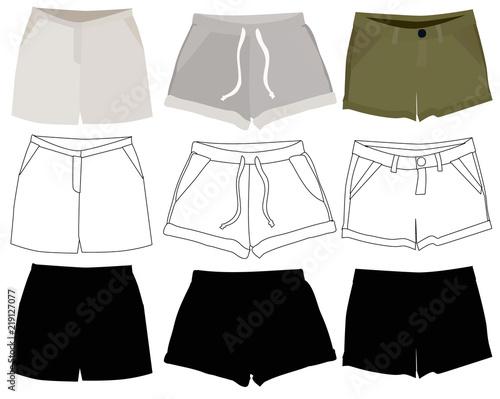 Obraz women's clothing set, shorts - fototapety do salonu