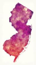New Jersey State USA Watercolo...