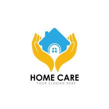 Home Care Logo Design Vector Icon Symbol